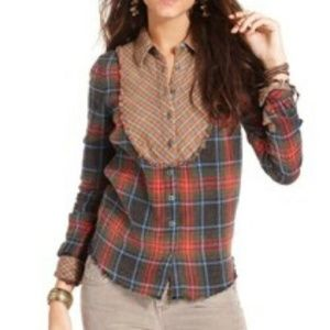 We The Free by Free People Flannel Multi Top XS